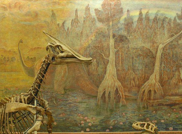 Фрагмент панно в палеонтологическом музее