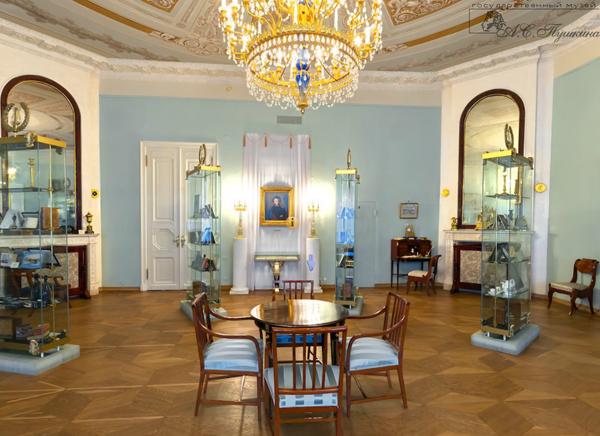 Экспозиция в музее Пушкина