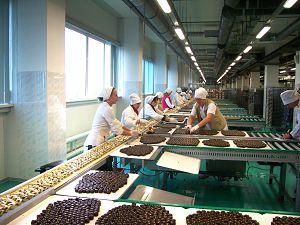 Процесс изготовления шоколадных изделий