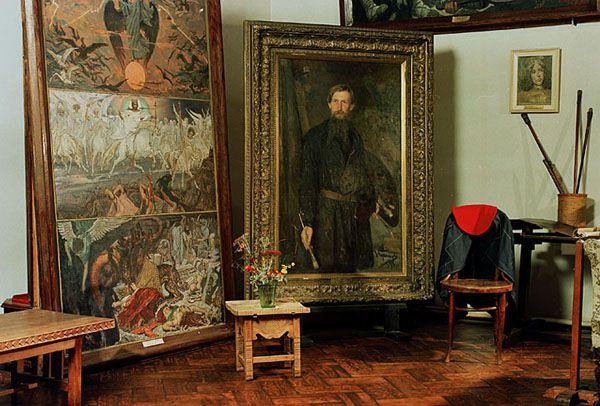 Мастерская в музее Васнецова