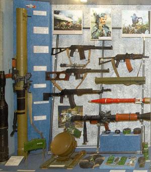 Стрелковое оружие в музее военной техники