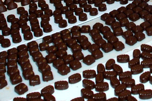 Фрагменты шоколадок