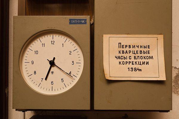 Электронные часы в музее Огни Москвы