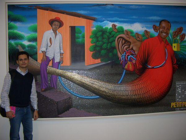 картина-коллаж в центре современного искусства гараж