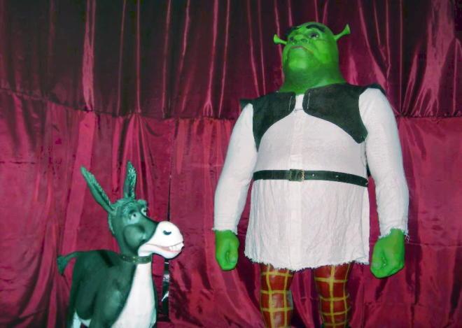 Выставка из мультфильма Шрек в музее восковых фигур в Москве