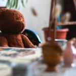 """Игрушка """"медведь"""" в музее Цветаевой"""