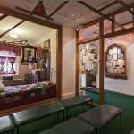 Вид на стенды в музее Есенина