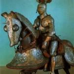 Доспехи рыцаря и его коня в оружейной палате